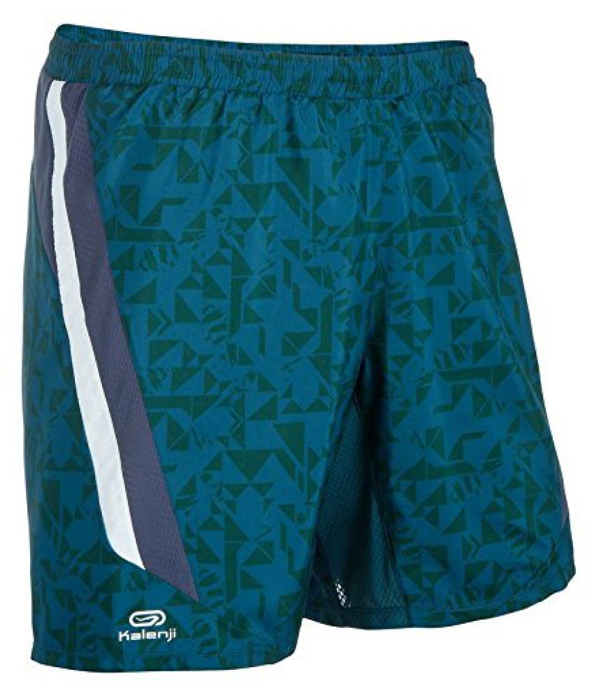KALENJI ELIO MENS RUNNING SHORTS - GREEN PRINT