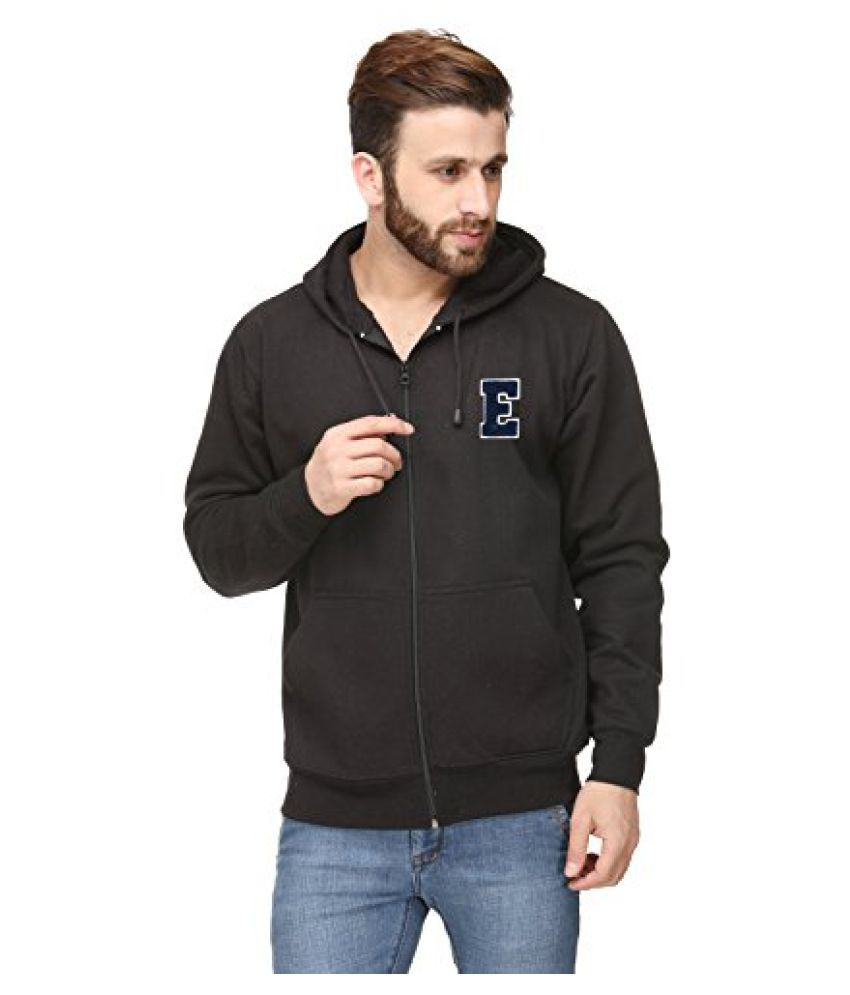 Scott International Black Cotton Men's Comfort Styled Hooded SweatShirt
