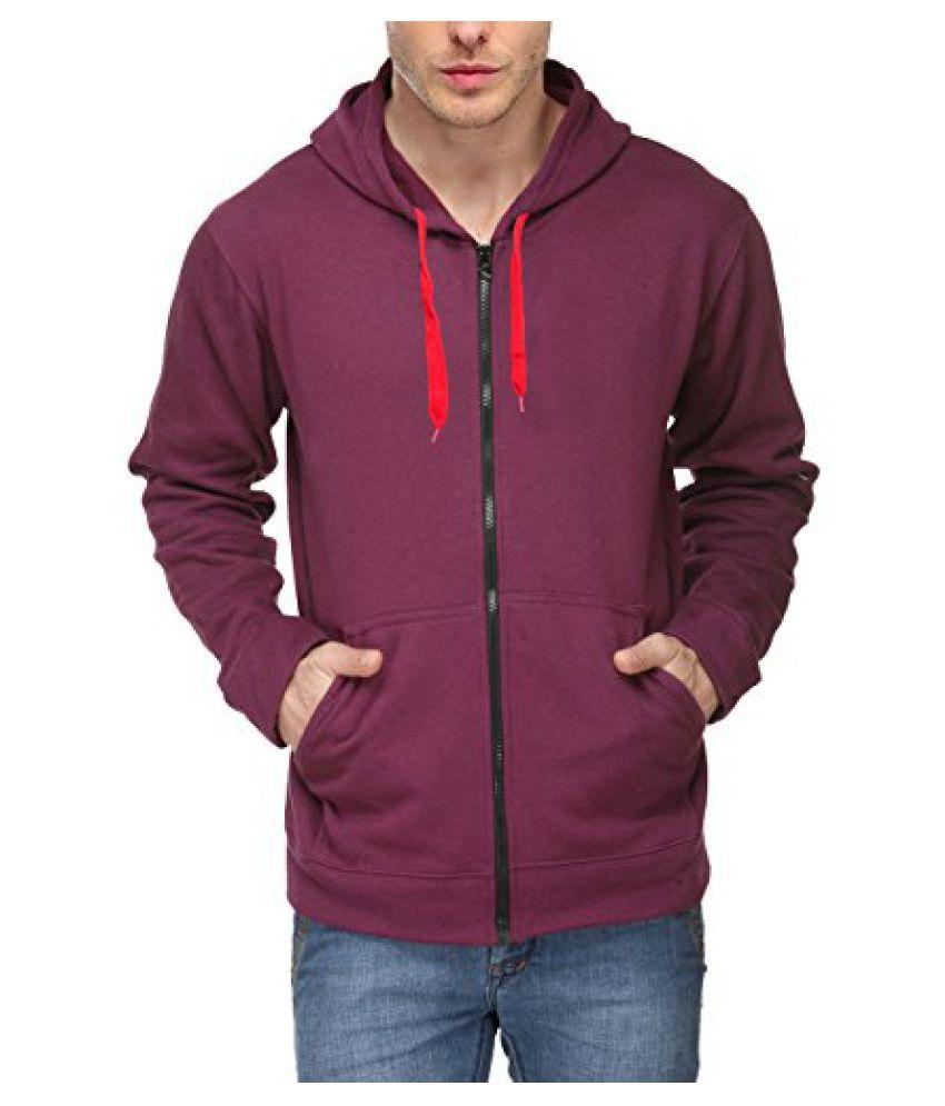 Scott Men's Premium Cotton Blend Pullover Hoodie Sweatshirt with Zip - Purple - 1.1_sslz10_M