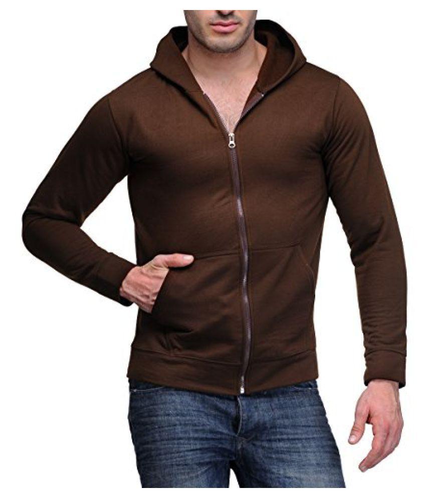 Scott Mens Premium Cotton Blend Pullover Hoodie Sweatshirt - Coffee Brown