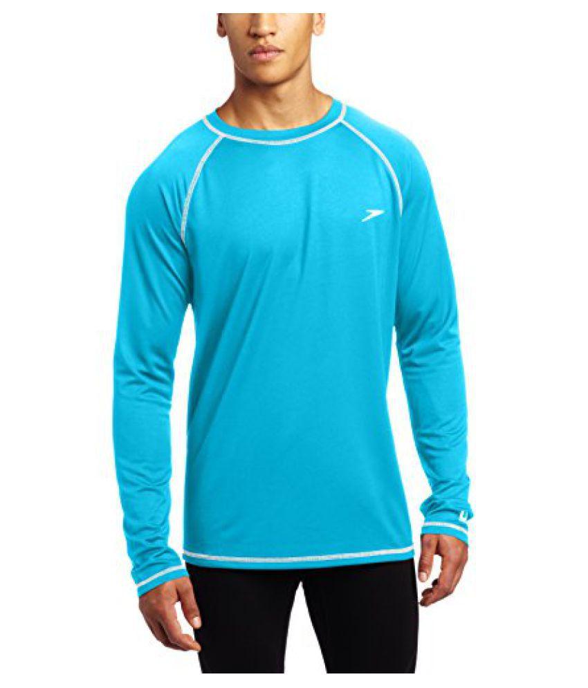 Speedo Men s UPF 50 Easy Long Sleeve Rashguard Swim Tee