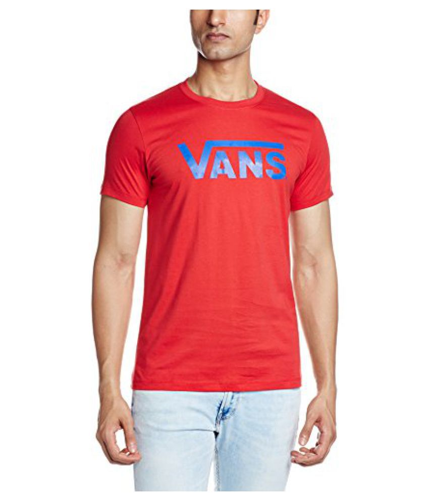 VANS Mens Round Neck Cotton T-Shirt