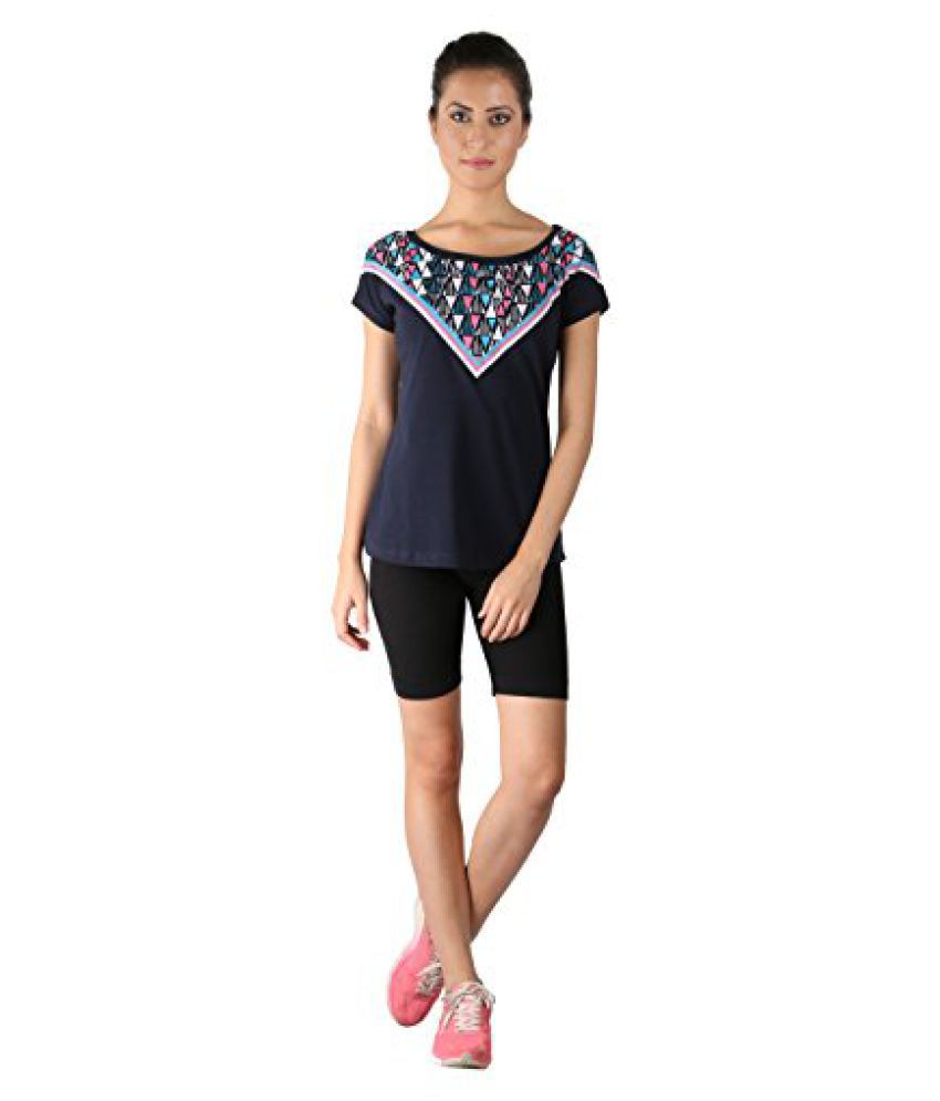 Vector X VTDF 108 A Printed Blend Round Neck T-Shirt, Womens (Blue)
