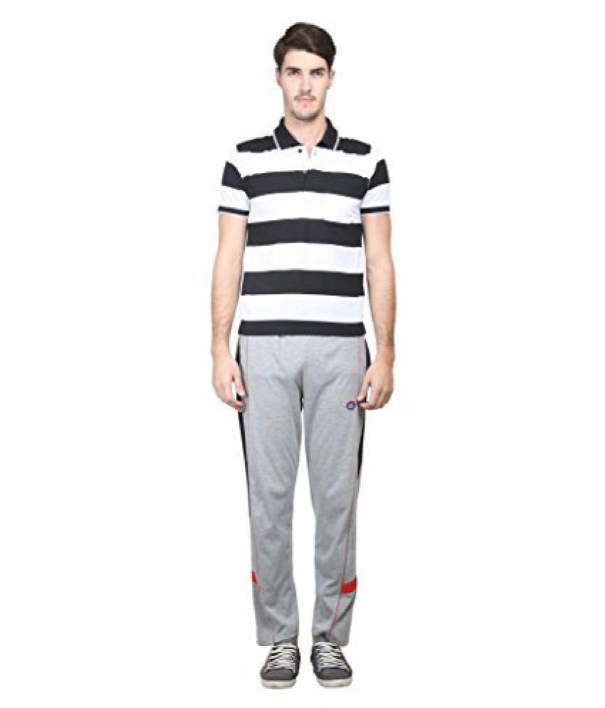 Vimal Black & Grey Cotton Blend Lower & Pyjama Set For Men