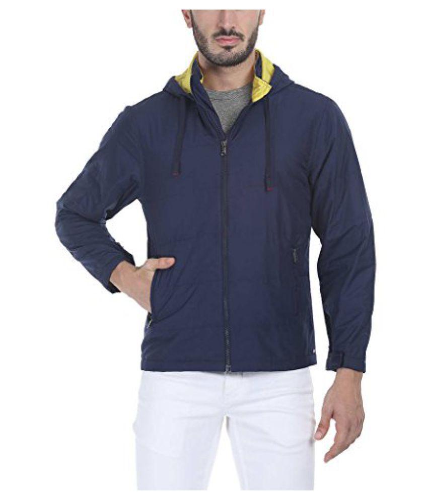 Zobello Men's Polyester Padded Full Sleeves Hooded Cire Jacket