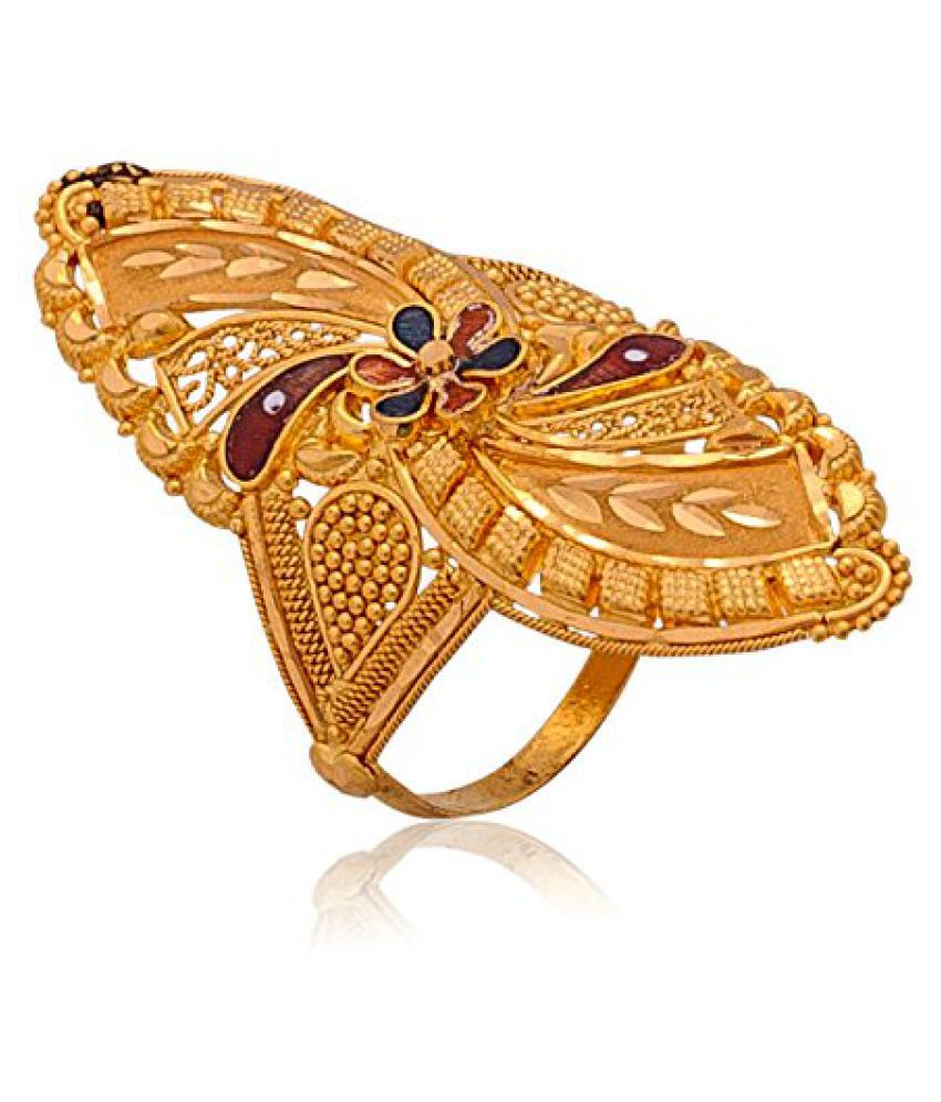 Senco Gold Aura Collection 22k Yellow Gold Ring