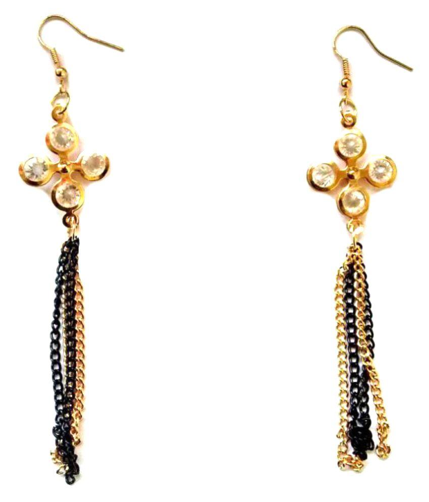 Shrungarika Fashionable Golden Hangings Earrings for Women & Girls