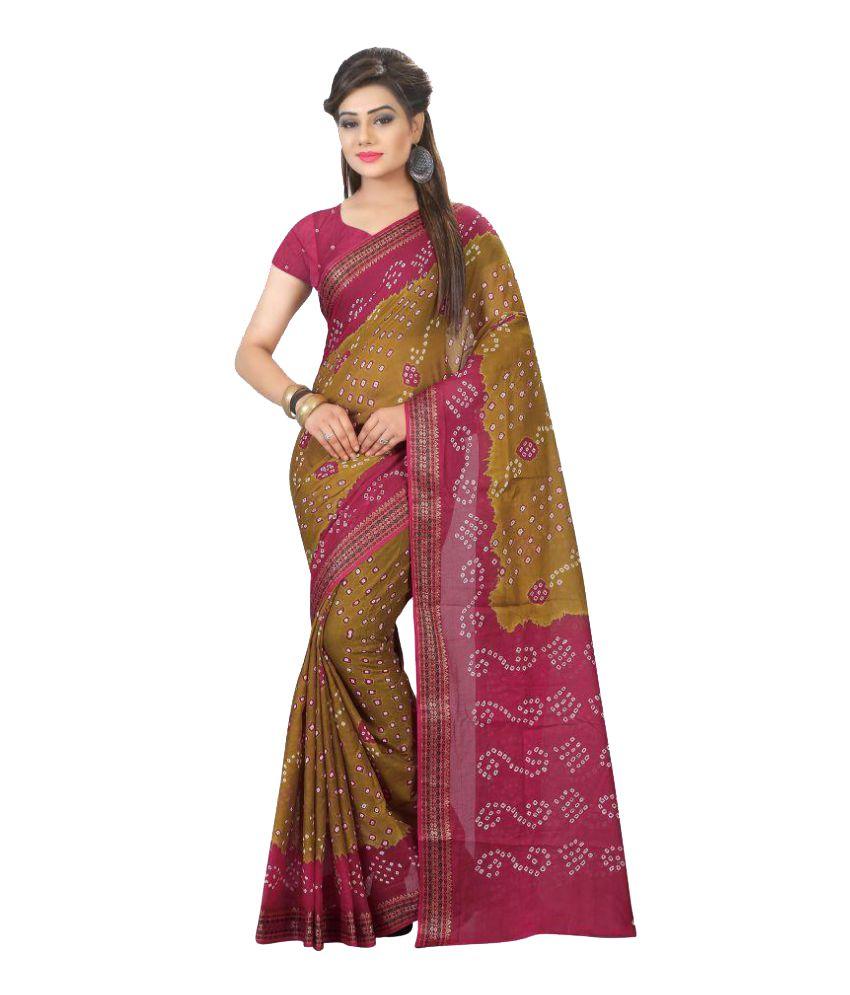 Bikaw Multicoloured Art Silk Saree