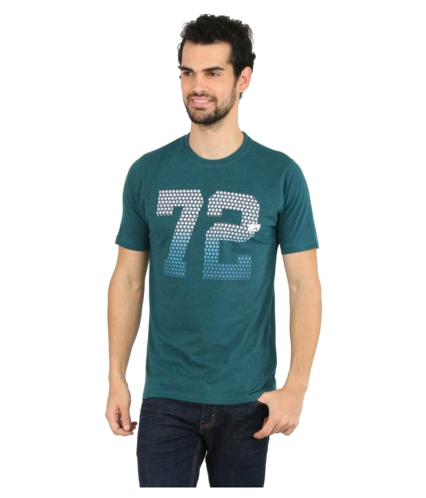 Vector X Printed Men's Round Neck Dark Green T-Shirt