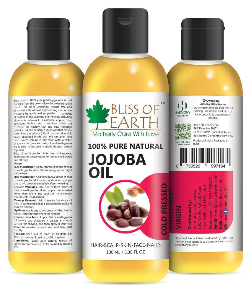 bliss of earth jojoba oil 100 ml ...