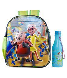 Uxpress Chotu Motu School Bag With Water Bottle