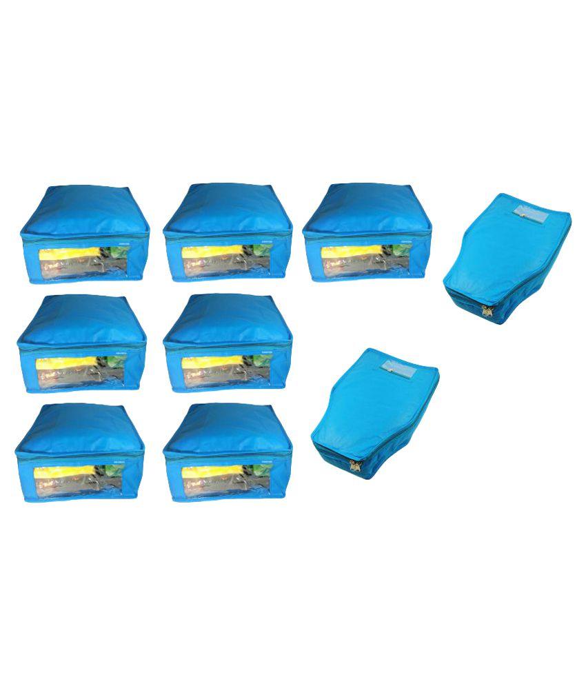 Abhinidi Blue Saree Covers - 9 Pcs
