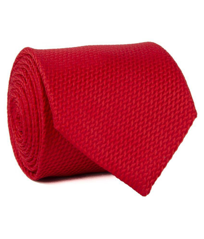 Cazzano Red Formal Necktie