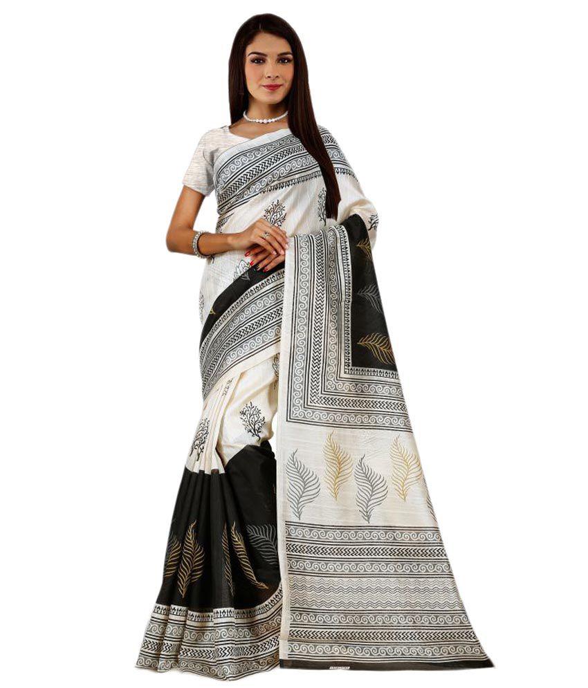 Dharma Products Multicoloured Bhagalpuri Silk Saree