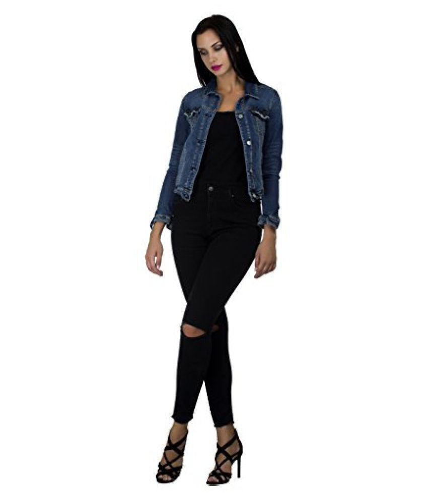 12d034953e26 Buy MansiCollections Full Sleeve Solid Women s Denim Jacket Online at Best  Prices in India - Snapdeal