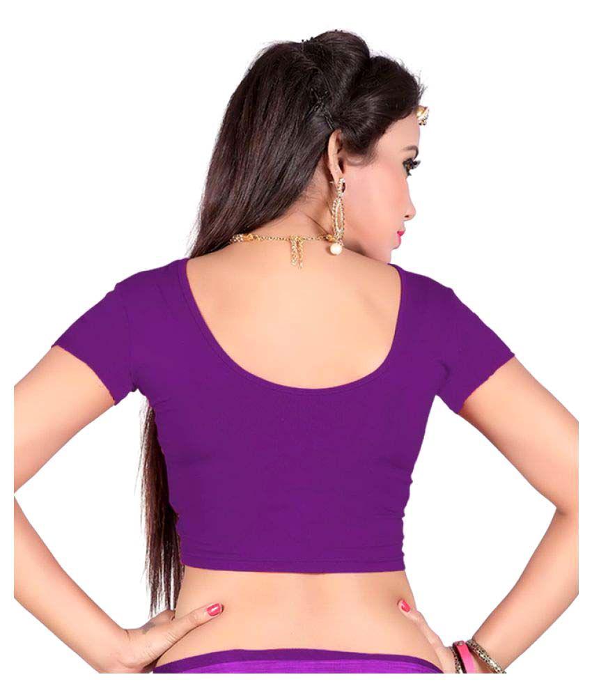 Srstudio Purple Round Shape Back Blouse