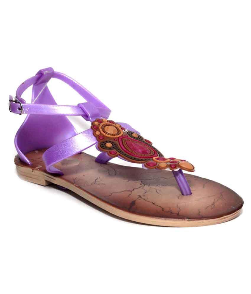 Shoe Lab Purple Flats
