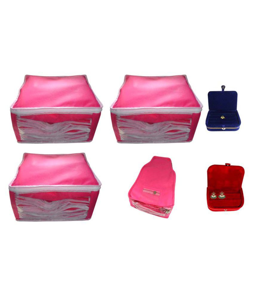 Abhinidi Pink Saree Covers - 6 Pcs