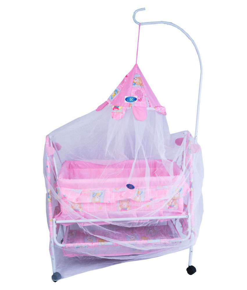 KGC Networks Kids Multi-functional Baby Best Bassinet Cradle with Mosquito Net