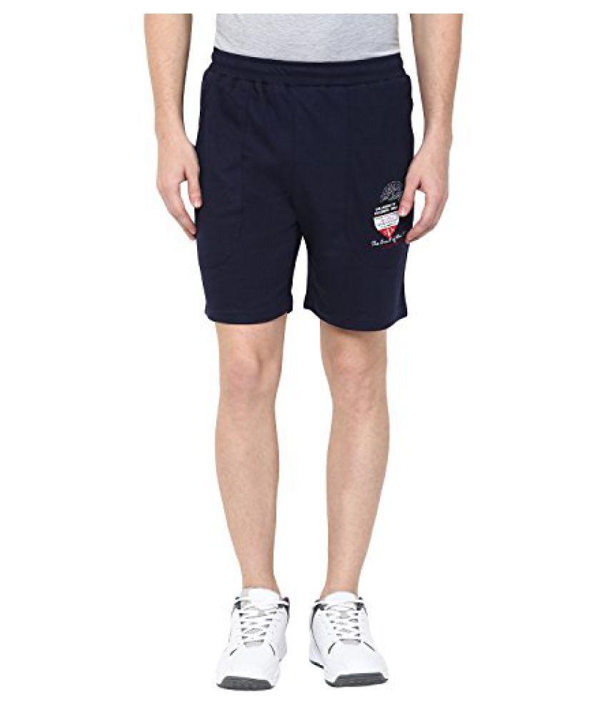 Fritzberg Mens Solid Navy Blue Shorts