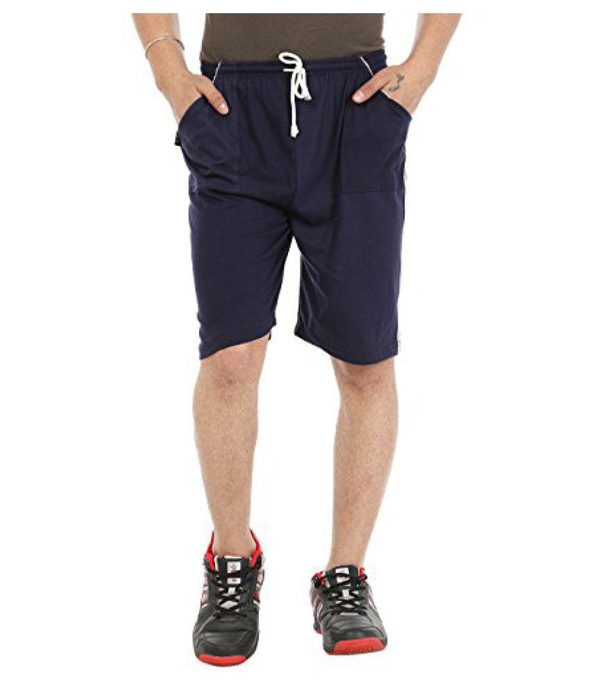 Gumber Blue Solid Shorts (GE_VT_NKR_BLU_1PC)