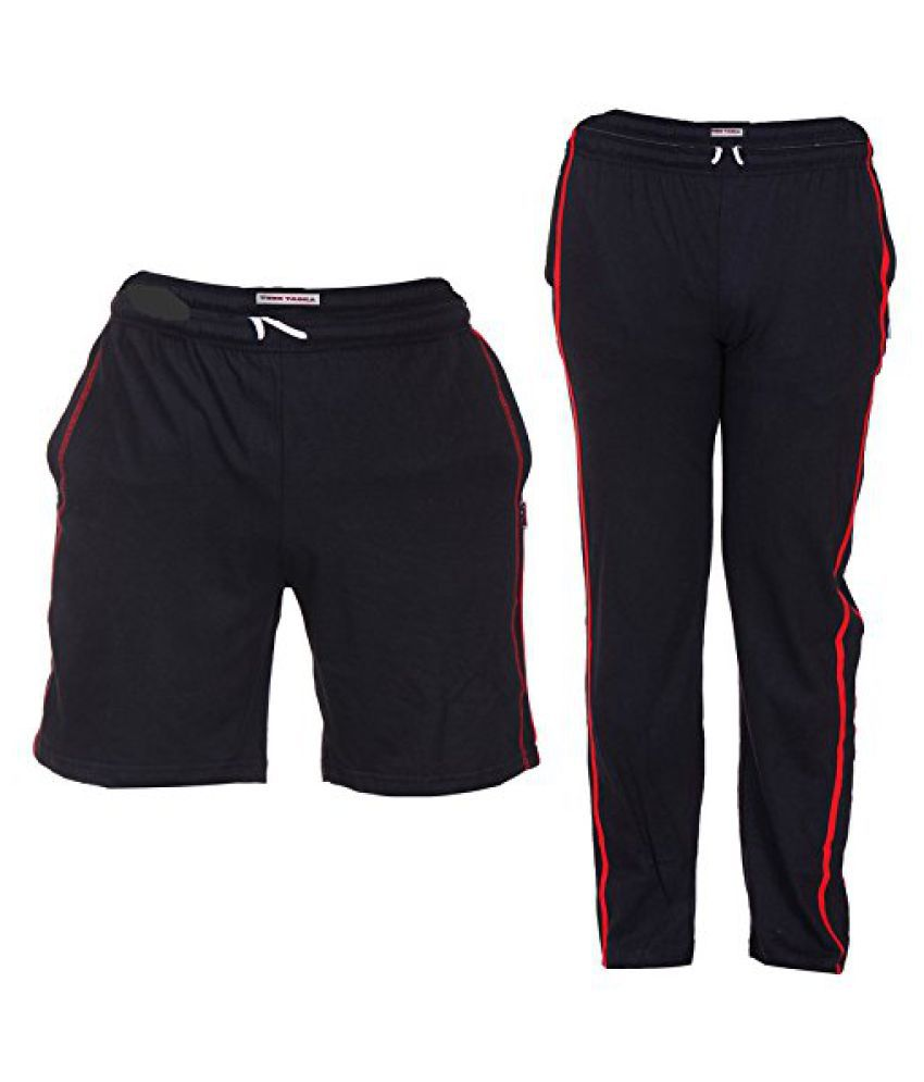 TeesTadka Combo Offers for Men In TrackPants and Shorts Combo Pack Of 2