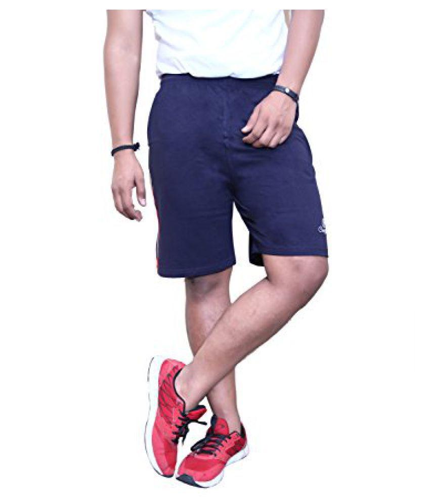CATFISH Men Dark Blue Cotton Shorts