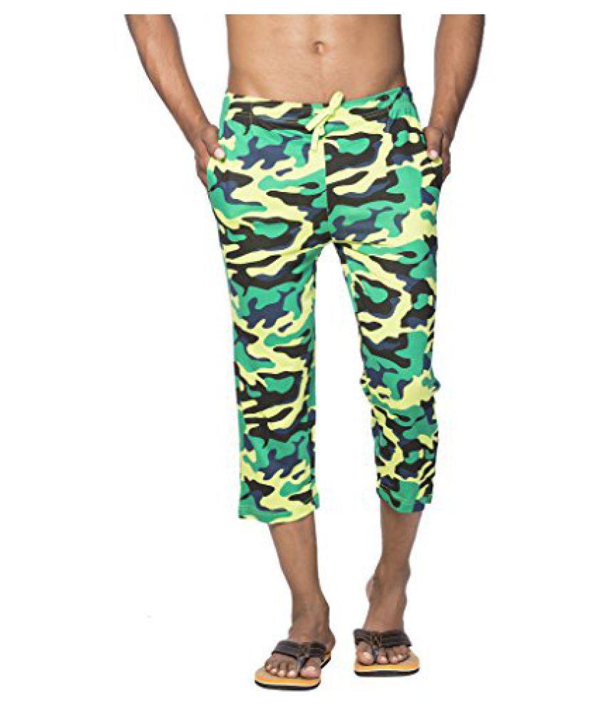 Clifton Mens Army Capri-Lime Green
