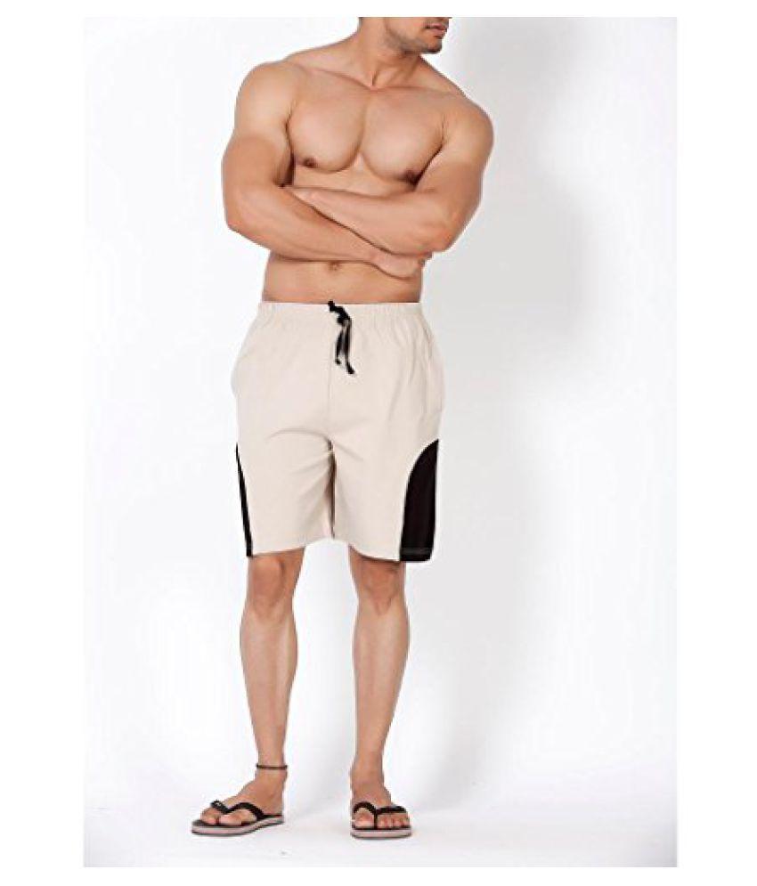 Clifton Mens Shorts MB04-A - Stone/Black