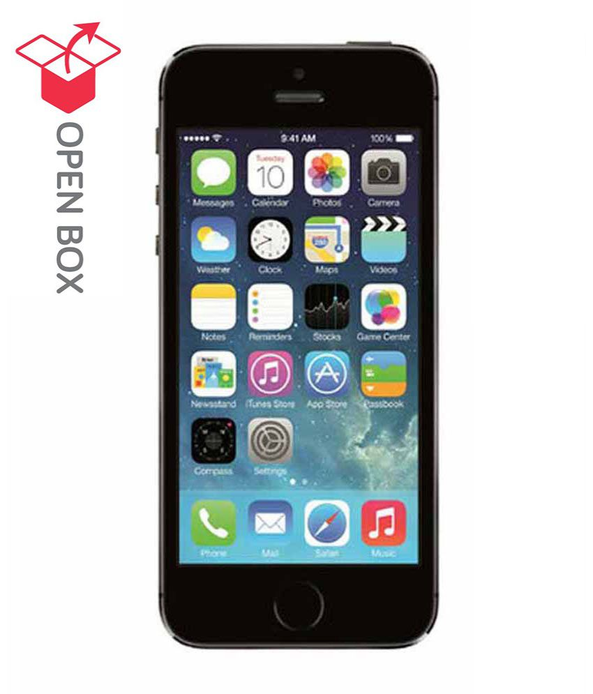 open box apple iphone 5s space grey 16gb buy open box. Black Bedroom Furniture Sets. Home Design Ideas