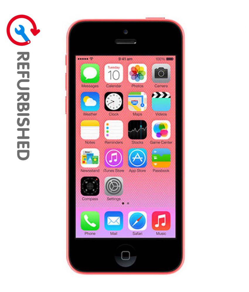 refurbished apple iphone 5c pink 8 gb refurbished mobiles online at low prices snapdeal india. Black Bedroom Furniture Sets. Home Design Ideas