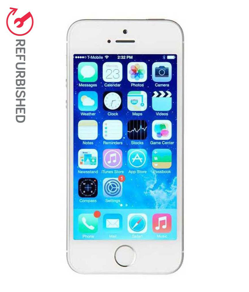 refurbished apple iphone 5s silver 16 gb buy. Black Bedroom Furniture Sets. Home Design Ideas