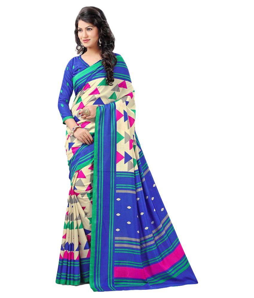 Anshika Lifestyle Multicoloured Art Silk Saree