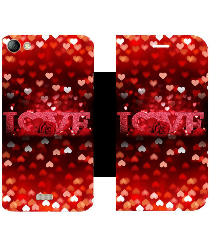 LYF Water 11 Flip Cover by Skintice - Red
