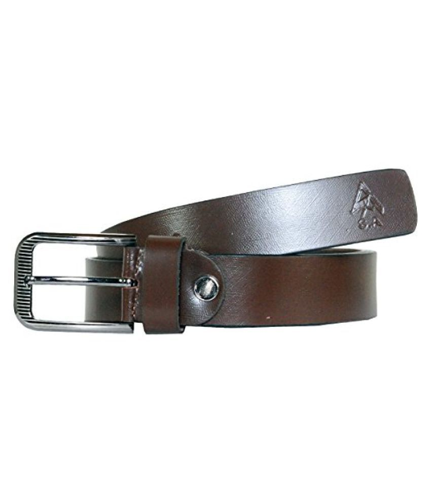J.Tushar Brown Leather Formal Belts