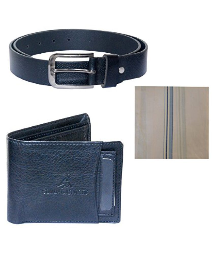 J.Tushar White Leather Combo Belts
