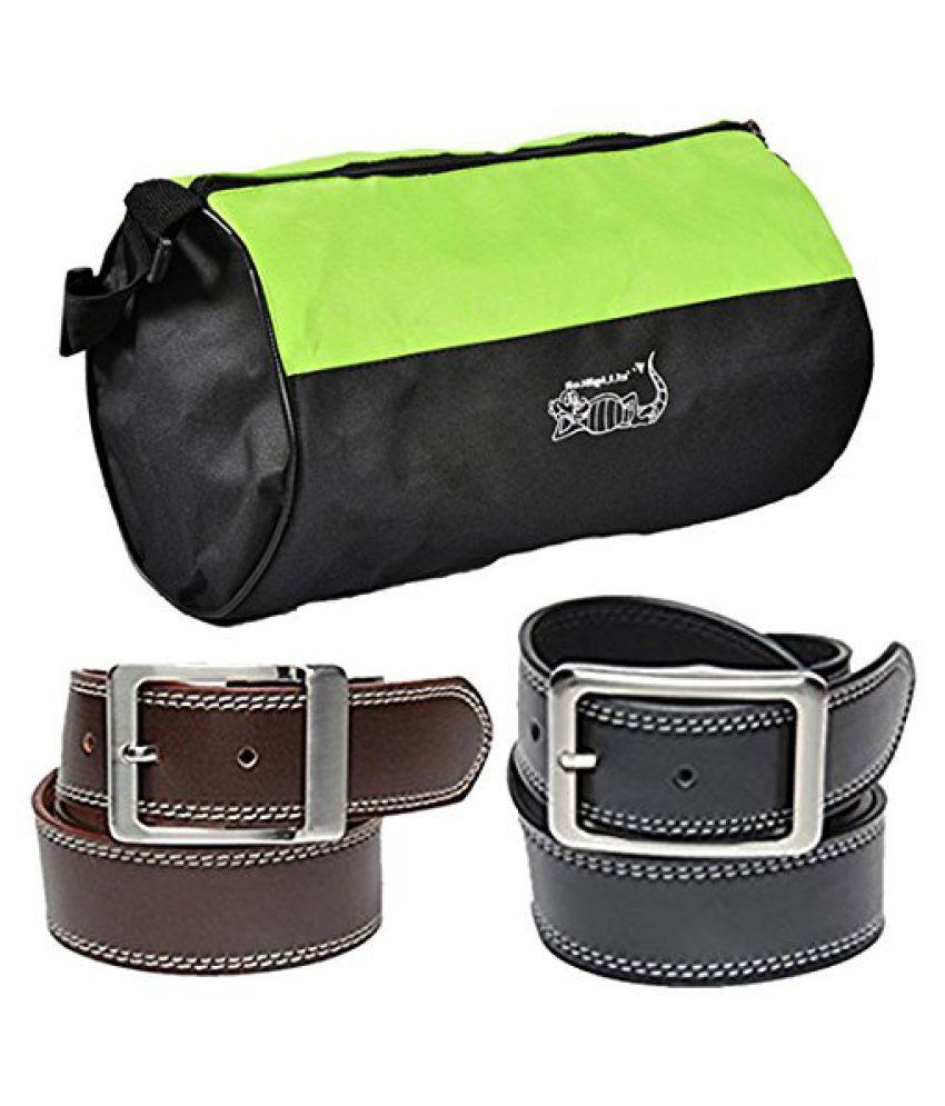 Elligator Black Polyester Combo Belts