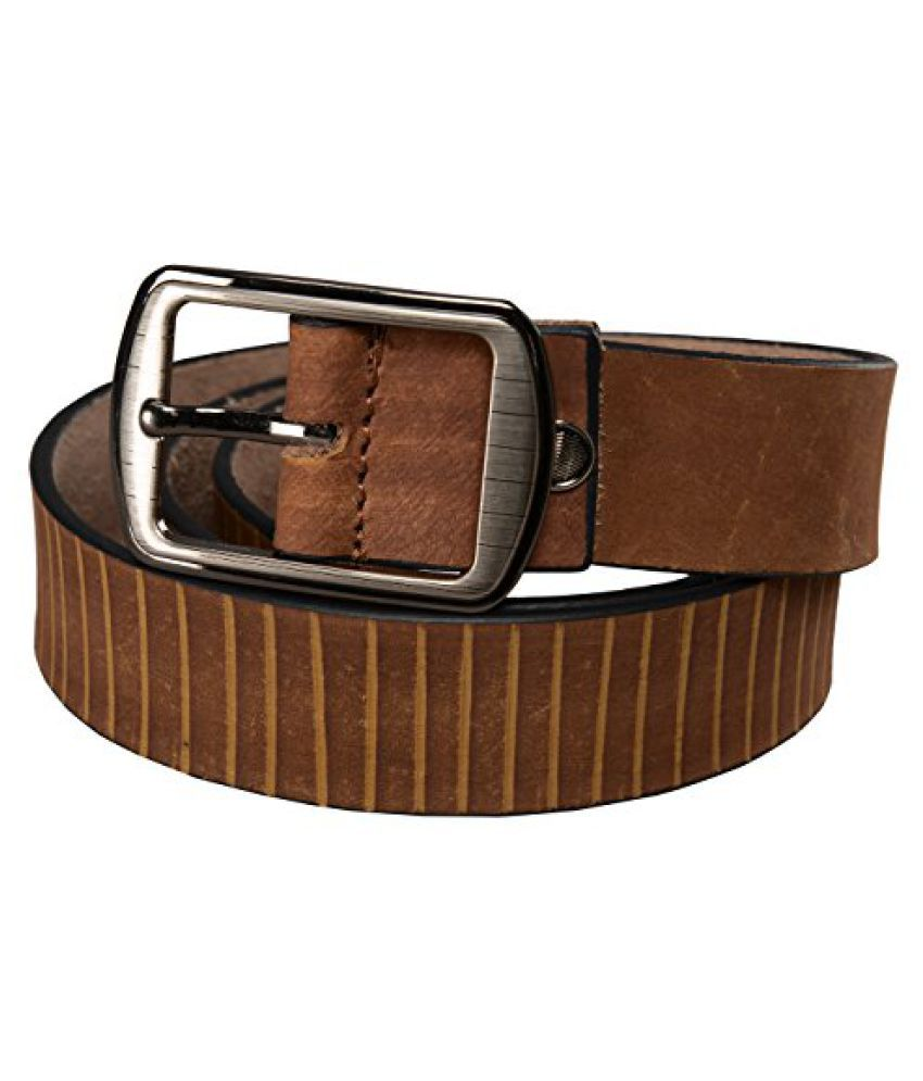 Leather Junction Trendy Brown Genuine Leather Belt For Men Size 40