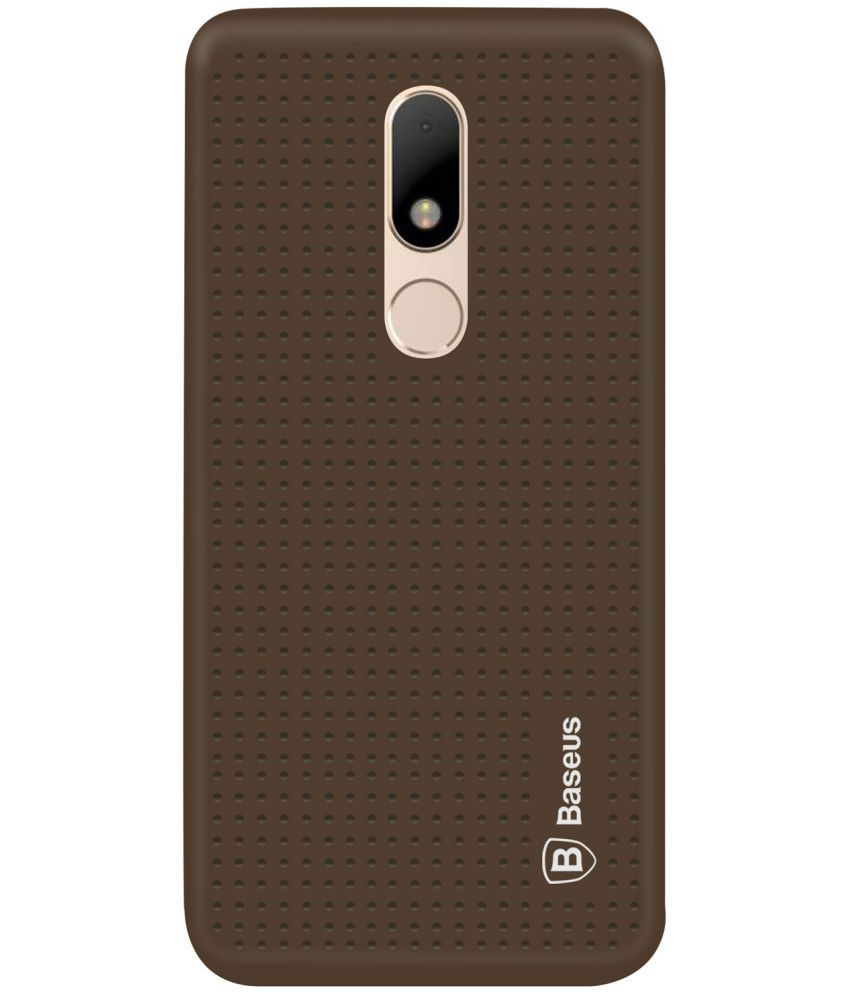 size 40 b19e1 2eab1 Motorola Moto M Soft Silicon Cases Deltakart - Brown