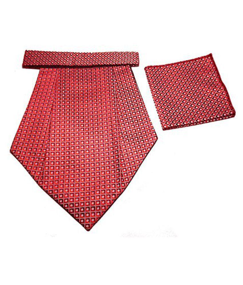 Mentiezi Micro Fibre Printed Cravat with Pocket Square for Men