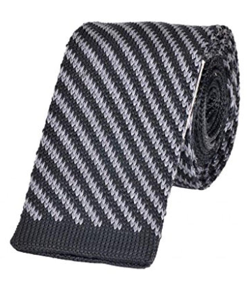 Tiekart Striped MenS Tie (Mk112_Black)