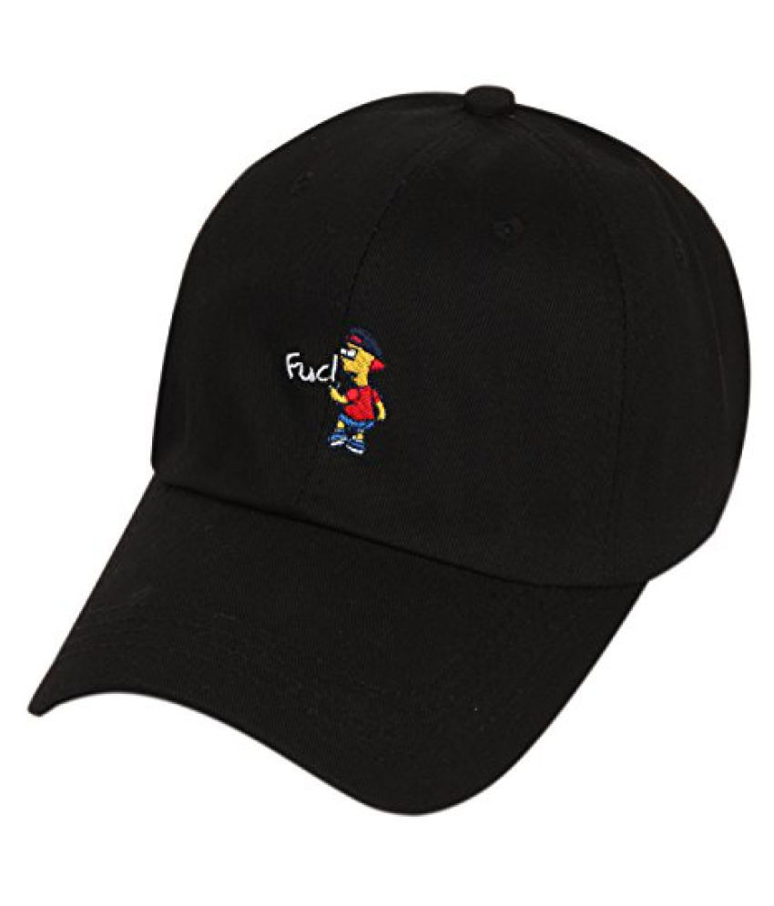 ILU Black cap for Men Snapback cap hiphop and baseball caps