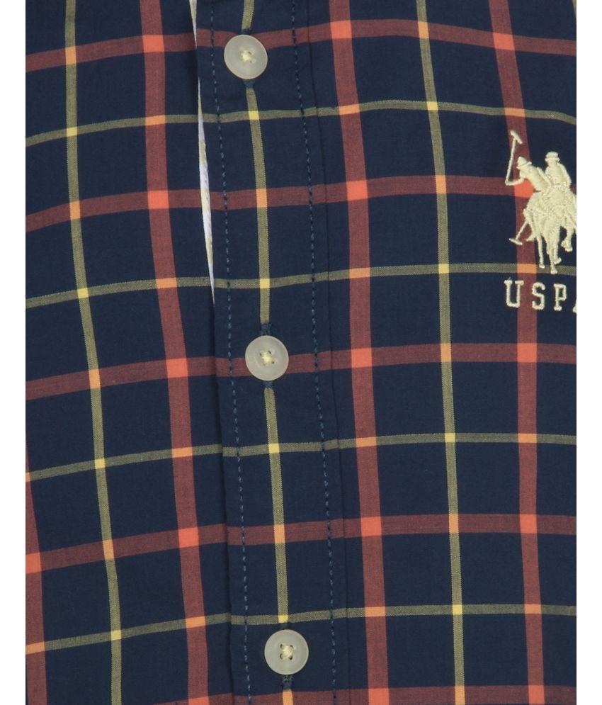 8f163b0cc U.S.Polo Assn. Blue Check Boys Shirt - Buy U.S.Polo Assn. Blue Check ...