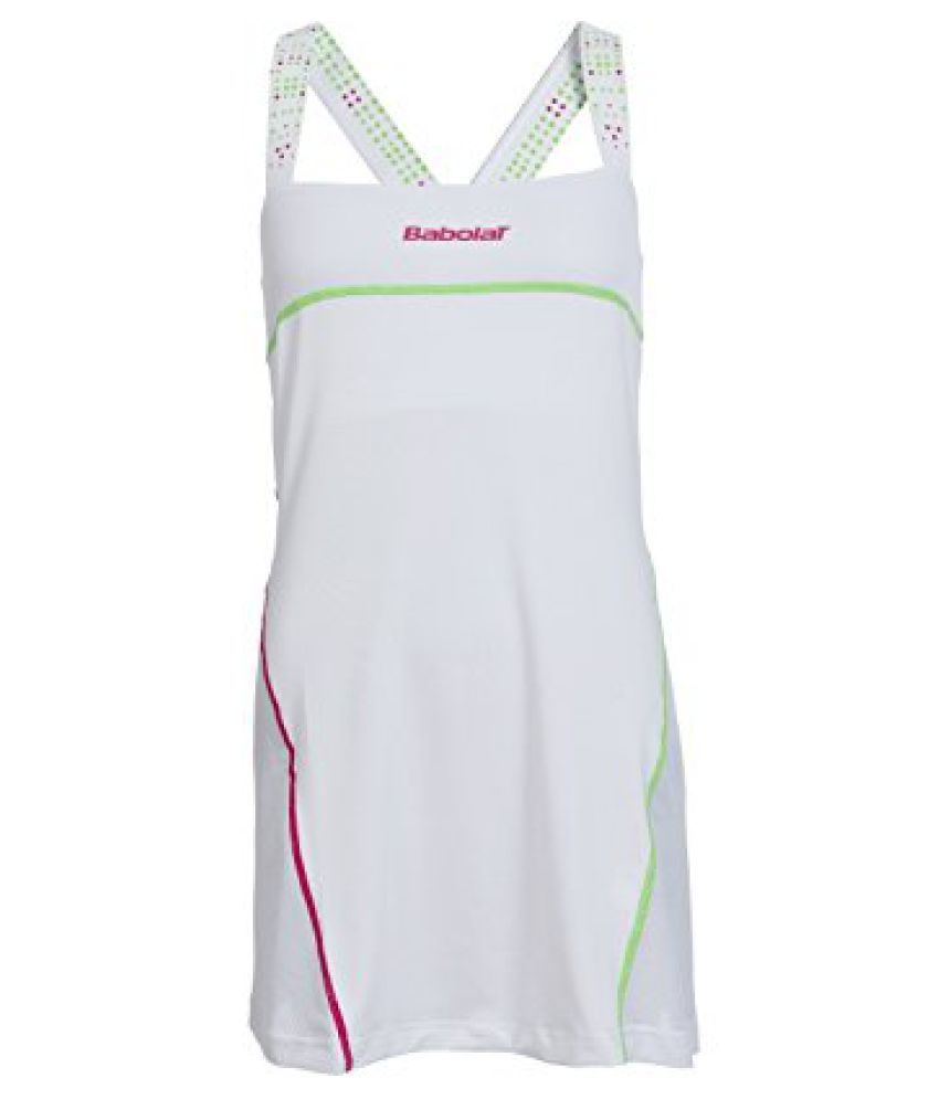 Babolat 41S1519-101 Perf Match Tennis Dress, Women's Medium (White)