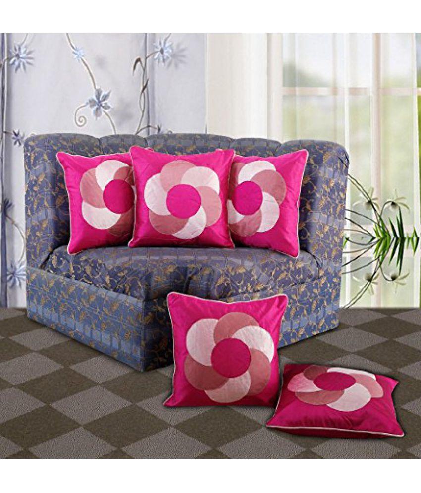Dekor World Circular Cushion Cover (Pack of 5 Pcs)