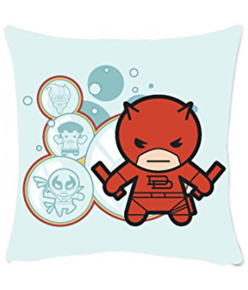 Marvel Kawaii Art - Daredevil Officially Licensed Square Polyester Cushion Cover - 16