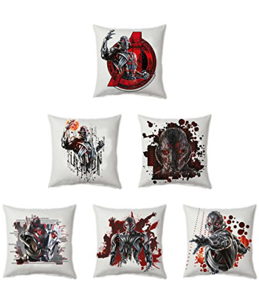 Marvel Ultron - Avengers Officially Licenced 6 Piece Stretch Polyester Cushion Cover Set - 16