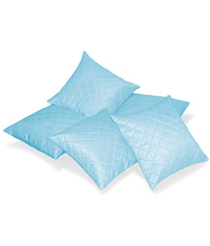 Zikrak Exim Box Quilted Sky Blue Cushion cover 50 X 50 Cms