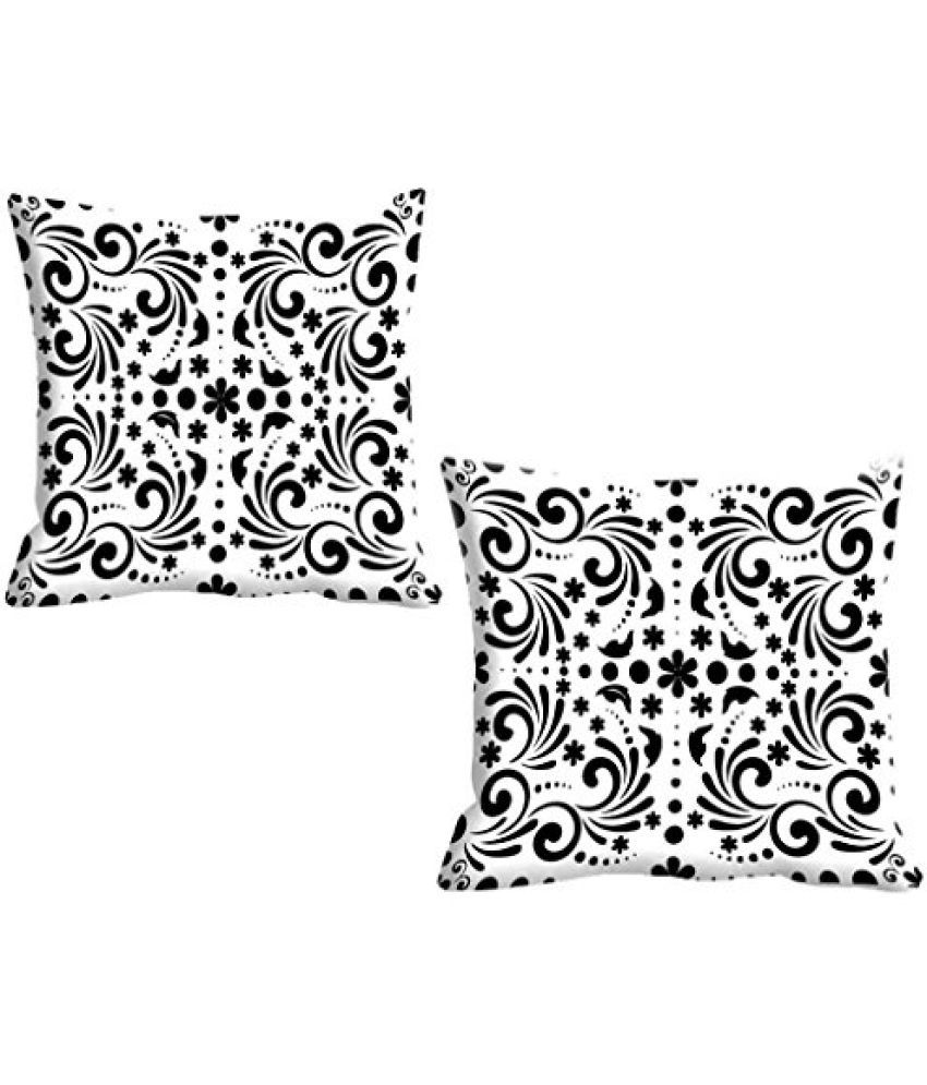IndiWeaves Micro Polyester Digital Printed Cushion Cover( 16*16) Inches- Set of 2
