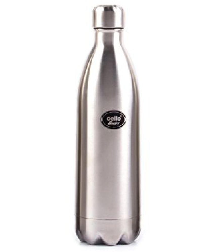 Cello Swift Steel Flask, 1 Litre, Silver